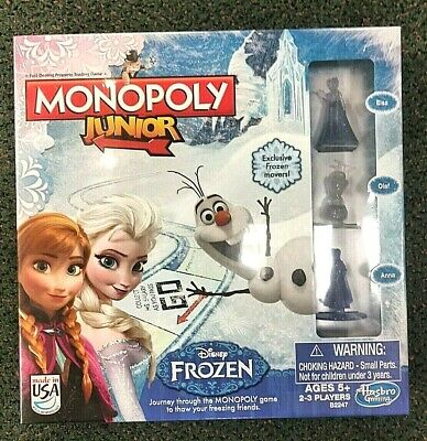 Disney Frozen Monopoly Junior Jr Hasbro Game NEW FACTORY SEALED FAST SHIPPING!