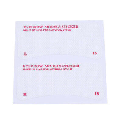 Thrush card Grooming Brow Stencils Eyebrow Template Stickers Tools 24 pcs DB