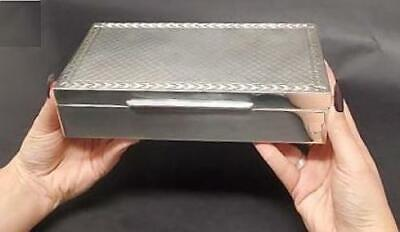 Large Vintage Modernist Hallmarked Sterling Silver Box & Presentation Case