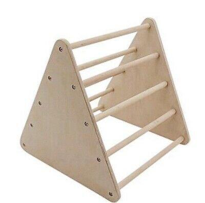 Varnished birch Baby gym, Pikler triangle, Montessori climbing frame.