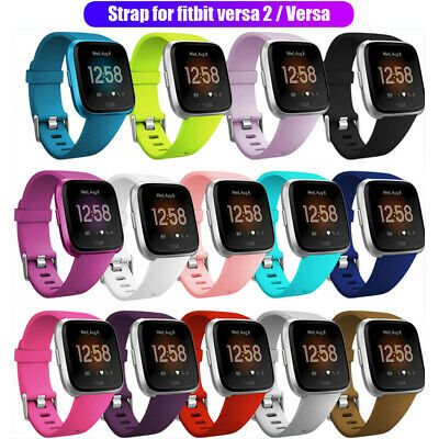 Silicone Sport Band Breathable Bracelet Strap Replacement For Fitbit Versa 2 S/L