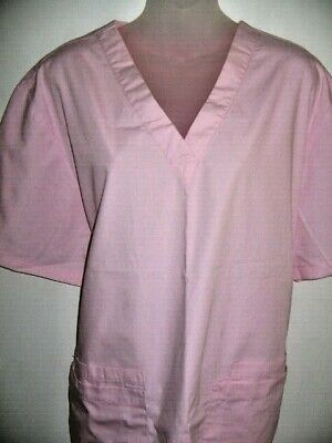 4 x JBs Wear Size 22 Cotton/Poly Scrubs Tops Blouses V Neck Long Line 4 Pockets