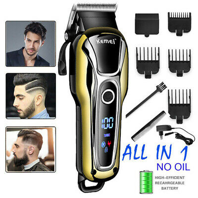 Salon Haircut Electric Cutter Hair Clipper Trimmer Cordless Corded Styling Tool