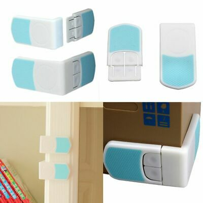 Closet Door Fridge Double Snap Drawer Cabinet Lock Baby Safety Kids Protection