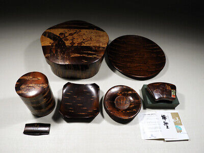 110 *Japanese tea ceremony set KABAZAIKU Cherry tree Sencha tools Many sets