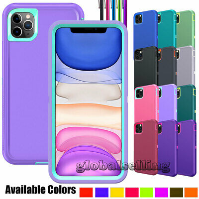 For iPhone 11 Pro Max/XR/X Phone Case Hybrid Rubber Rugged Hard Shockproof Cover