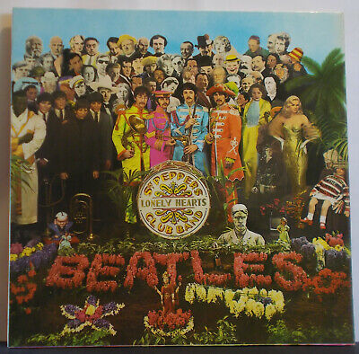 THE BEATLES Sgt Pepper - UK Stereo LP + Cutouts Insert Parlophone PCS 7027 Psych