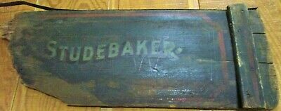 "Antique Authentic ""Studebaker"" Wooden Wagon Tail Gate-Found in Montana Barn"
