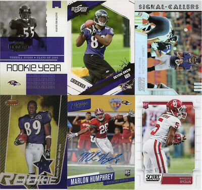 BALTIMORE RAVENS Lot of 10 football cards, includes Autograph & Jersey cards