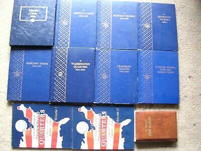 Whitman Classic Album For Lincolns, 7 Whitman Albums Cents To Type & More