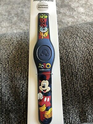 Disney Magic Band 2020 Mickey Mouse New & Linkable With Parks Icons