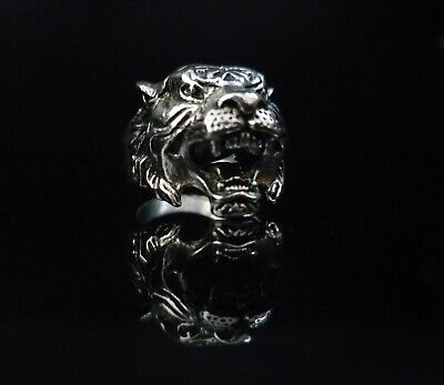 Ancient Viking Ring Artifact Authentic Silver Rare Antique Animal Jewelry Biker