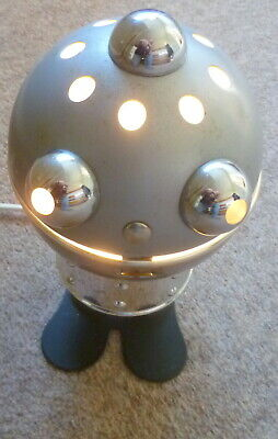 Very Rare 60/70S  Robot Sci-Fi Table Lamp Space Age Vintage Futurism