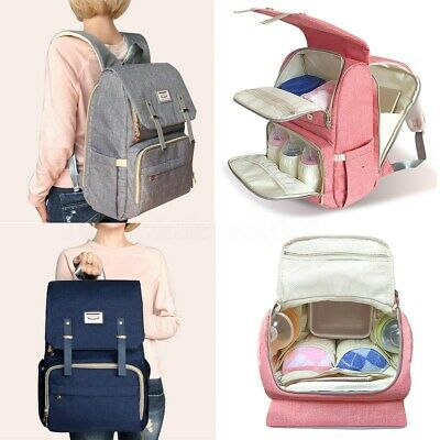 LAND Mummy Maternity Nappy Diaper Bag Baby Changing Backpack Travel Rucksack !