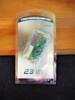 Unbranded//Generic 23 in 1 USB 2.0 Card Reader Writer Gray Lot of 2