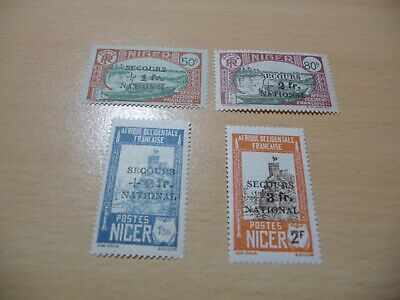 LOT COLLECTION  TIMBRES  COLONIES  FR  NIGER  SERIE  n 89 A 92  NEUFS*