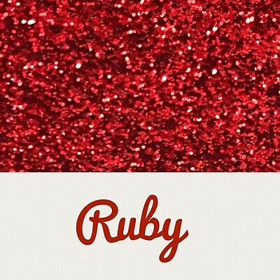 A4 Red Chunky Glitter Fabric x 10 Sheets