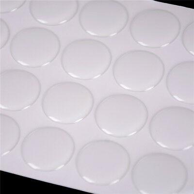 """100Pcs 1"""" Round 3D Dome Sticker Crystal Clear Epoxy Adhesive Bottle Caps  SJF sk"""