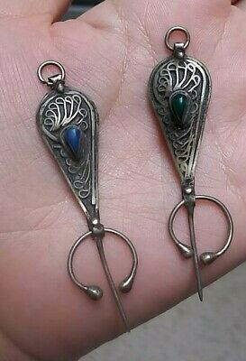 Ancient Silver Viking Amulet Pendant Mueum Quality Artifact Very Amazing