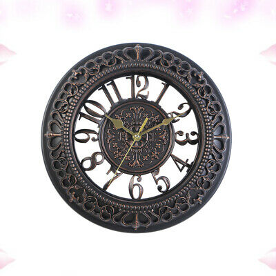 1pc Hollowed-out Round Dial Decorative Vintage European Hanging Clock for Office