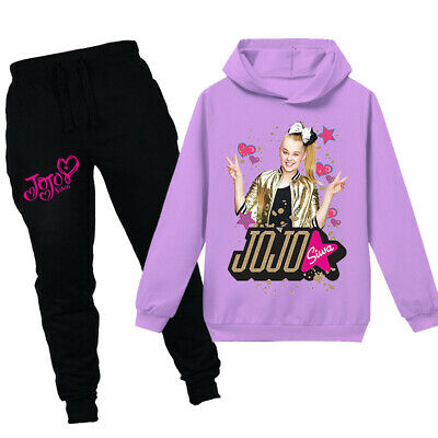 JoJo Siwa Girls Hoodies Casual Cartoon Top Clothes+Trousers Sets Outfits PH1246