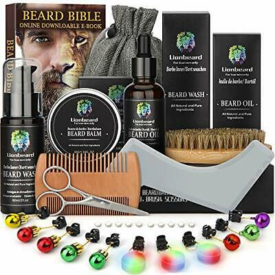 Beard Care Kit for Men Dad Beard Growth Grooming & Trimming, Beard Shampoo