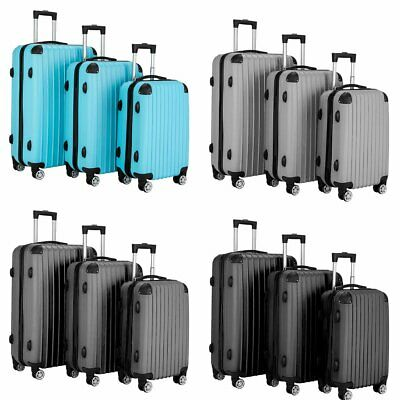 360° Spinner Luggage Travel Set Bag ABS Trolley Carry On Suitcase Case W/ Lock