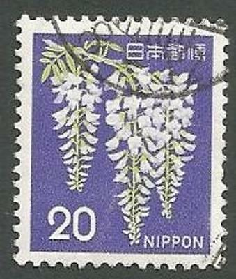 Japan Scott# 915, Wisteria, (Violet, Green & White) 20y, Used, 1969