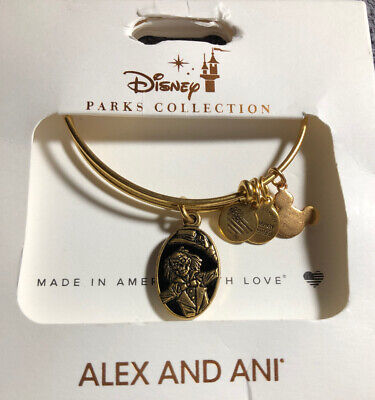 Disney Alex And Ani Haunted Mansion 50 Years Of Haunts 2 Sided Gold Bracelet