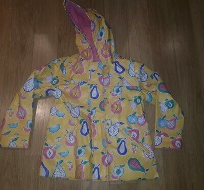 Girls MARKS AND SPENCER Raincoat Jacket 5-6 Years- Yellow With Fruit