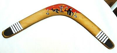 Old Painted Australian Aboriginal Boomerang