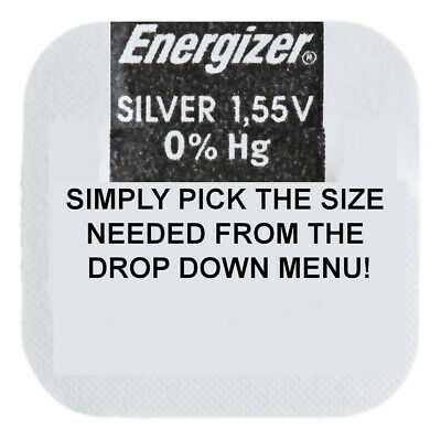 Genuine ENERGIZER Silver Oxide Watch Battery 1.55v - ALL SIZE SHOWCASE!