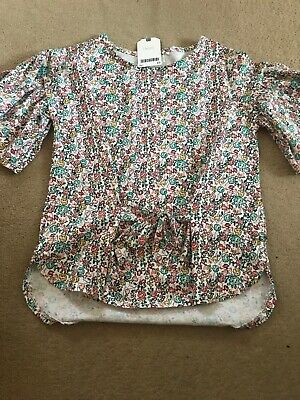 Next Girls Brand New Floral Short Sleeve Top Age 10
