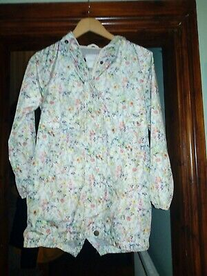 Beautiful  Floral Girls Lined Mac /jacket Next Age 11polyester worn 3times