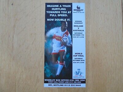 1995 Rugby League World Cup Advertising Flyer