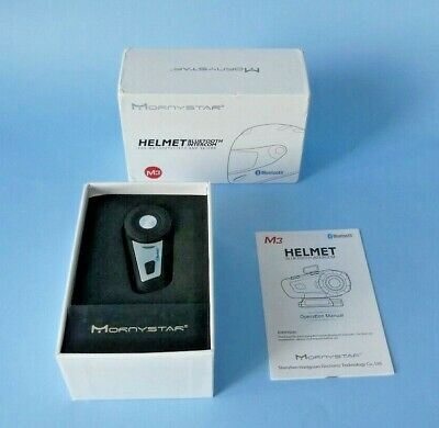Mornystar M3 Bluetooth Helmet Intercom For Motorcyclists & Skiers ~ New In Box