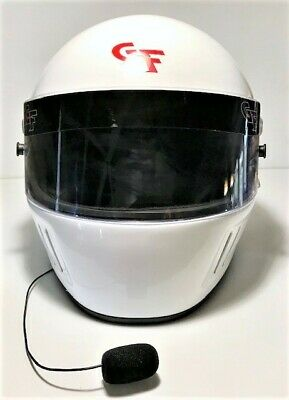 Snell SA2015 Helmet White Large GForce Racing Auto Racing Like New Large L