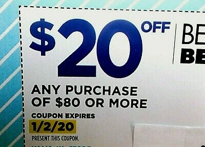 FAST!! ~ (1) BED BATH AND & BEYOND - $20 OFF $80 or more - Exp. 1/2/20
