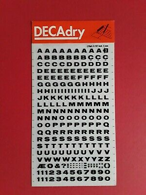 DECADRY LETRASET DRY TRANSFER LETTERING HELVETICA 5mm CRAFTS CARDS MODELLING