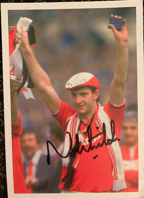 Signed Norman Whiteside Postcard Manchester United FC 1985 FA Cup Final