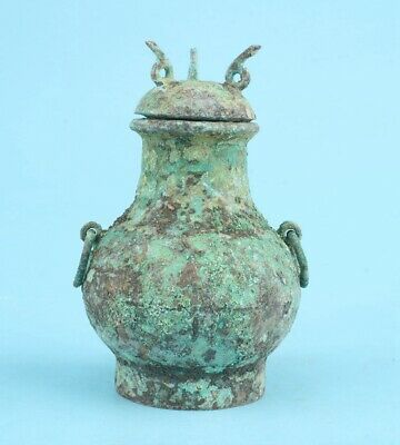 Rare China Bronze Jars Collect Artifact Gift Old Decoration