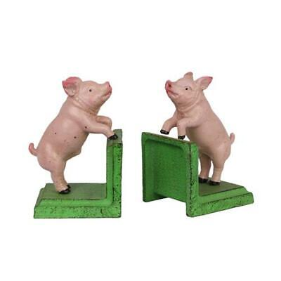 Cast Iron Pair Of Pigs Pig Book Ends Best Quality Set Of Two See My Other Items
