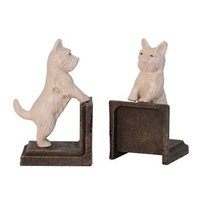 Cast Iron Pair Of Maltese Dogs Book Ends Best Quality Set Of Two See My Items