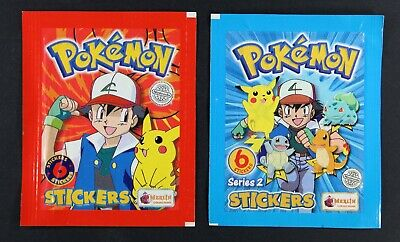 1999 Pokemon Stickers series one wrapper & series two pack -  Topps Europe