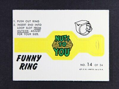 1966 Topps Funny Ring No 14 - sharp corners and edges