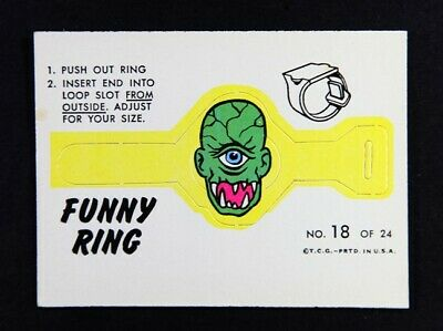 1966 Topps Funny Ring No 18 - sharp edges and corners