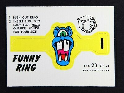 1966 Topps Funny Ring No 23 - sharp corners and edges