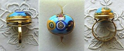 GOLDENER RING - GLAS - MURANO - DOUBLE - 17 mm