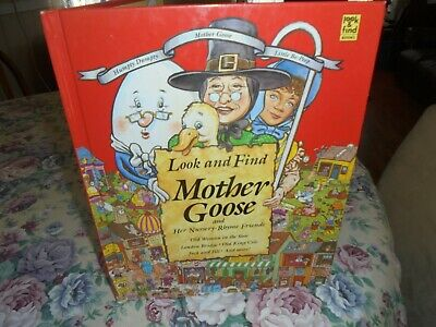 Look and Find Mother Goose & Her Nursery Rhyme Friends Pictures Children Book HA