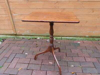Lovely Antique Mahogany Tilt Top Tripod Side Occasional Table.